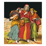 Lot with His Wife and Daughters Giclee Print by  English