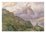 The God Thor Chasing the Dwarfs, 1878 (W/C) Giclee Print by Richard Doyle