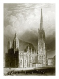 St. Stephens, Vienna Giclee Print by  English