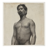Study of a Negro Man. C.1891 (Charcoal and Pastel on Cream Laid Paper) Impression giclée par Henry Ossawa Tanner