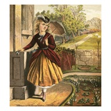 Girl with Parasol Giclee Print by  English