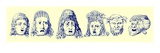 Roman Theatrical Masks, Illustration from 'Cassell's Illustrated Universal History' Giclee Print by  English