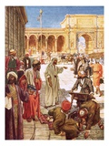 Christ Driving the Money Changers from the Temple Giclee Print by William Brassey Hole