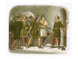 William De Breteuil Defends the Treasury Giclee Print by James E. Doyle