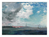 New Brighton from the Mersey, 1907 (Oil on Panel) Giclee Print by James Hamilton Hay