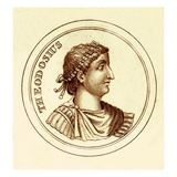 Theodosius, Illustration from 'The Universal Historical Dictionary' by George Crabb, Published 1825 Giclee Print by  English