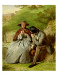 Lovers, 1855 (Oil on Board) Giclee Print by William Powell Frith