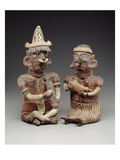 Male and Female Figure, 100 Bc-400 Ad (Polychrome Ceramic) Giclee Print by  Nayarit