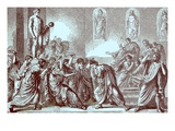 The Murder of Julius Caesar, Illustration from 'The Illustrated History of the World' Giclee Print by  English