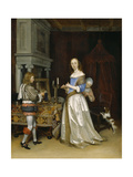 Lady at Her Toilette, c.1660 Lámina giclée por Gerard ter Borch or Terborch