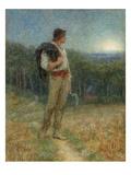 Harvest Moon, 'Globed in Mellow Splendour', 1879 Giclee Print by Helen Allingham