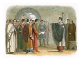 Becket Forbids the Earl of Leicester to Pass Sentence on Him Giclee Print by James E. Doyle