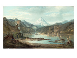 Mountain Landscape with Indians, 1870-75 Giclee Print by John Mix Stanley