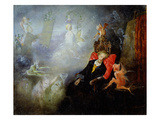 The Artist's Dream, 1857 (Oil on Millboard) Giclee Print by John Anster Fitzgerald