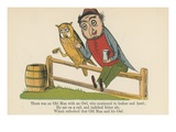 There Was an Old Man with an Owl, Who Continued to Bother and Howl Giclee Print by Edward Lear