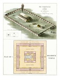 The Tabernacle and Plan of Solomon's Temple Giclee Print by  English