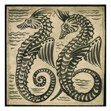 Sea-Horse (W/C on Paper) Giclee Print by William De Morgan