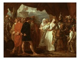 Queen Philippa Interceding for the Lives of the Burghers of Calais, 1788 Giclee Print by Benjamin West