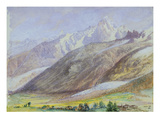 Mountain Scene, 23rd June 1858 (W/C on Paper) Giclee Print by John Brett