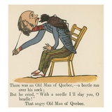 There Was an Old Man of Quebec- a Beetle Ran over His Neck Giclee Print by Edward Lear