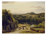 Landscape in the Harz Mountains, 1854 (Oil on Canvas) Giclee Print by Thomas Worthington Whittredge