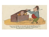 There Was an Old Man on Some Rocks, Who Shut Up His Wife in a Box Giclee Print by Edward Lear