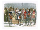 Arundel, Gloucester, Nottingham, Derby, and Warwick before King Richard Ii Giclee Print by James E. Doyle