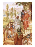 Jesus Testing the Faith of a Woman Giclee Print by William Brassey Hole