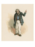 Mr Peggotty, Illustration from 'Character Sketches from Charles Dickens', C.1890 (Colour Litho) Giclee Print by Joseph Clayton Clarke