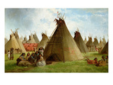 Prairie Indian Encampment, c.1870 Giclee Print by John Mix Stanley