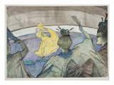 At the Circus, 1899 (Crayon, Pastels and W/C on Wove Paper) Giclee Print by Henri de Toulouse-Lautrec