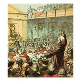 Burke, the Great Orator Giclee Print by  English