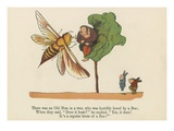 There Was an Old Man in a Tree, Who Was Terribly Bored by a Bee Giclee Print by Edward Lear