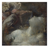 Study for 'Ophelia', C.1870 (Panel) Giclee Print by George Frederic Watts