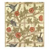 Blue and Orange Trellis Wallpaper Design  1864