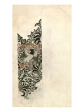 Unfinished 'Bird and Vine' Wood Block Design for Wallpaper, 1878 (Pencil and W/C on Paper) Giclee Print by William Morris