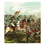 Battle of Waterloo Giclee Print by  English