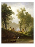 The Wolf River, Kansas, c.1859 Giclee Print by Albert Bierstadt