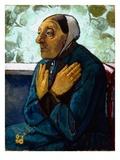 Old Peasant Woman, c.1905 Gicléetryck av Paula Modersohn-Becker