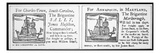 Coastwise Trade and Commerce Between the Colonies - Two Sailing Notices Giclee Print by  American