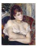 Woman in an Armchair, 1874 Giclee Print by Pierre-Auguste Renoir