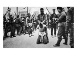 A Looter Beheaded after Riots in Tientsin During the Revolution in China (B/W Photo) Giclee Print by  German photographer
