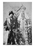 Tsar Nicholas Ii and Tsaritsa Alexandra in Full Coronation Regalia, May 1896 (B/W Photo) Giclée-tryk af  Russian Photographer