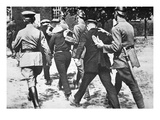 Police in Nazi Germany Arrest Communists on Hitler's Orders, 1933 (B/W Photo) Giclee Print by  German photographer