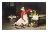 Kitchen-Boy, 1893 (Oil on Canvas) Giclee Print by Joseph Bail