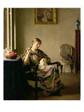 Woman Sewing, c.1913 Giclee Print by William McGregor Paxton