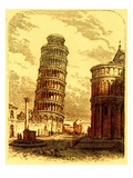 The Leaning Tower, and Apsis of the Cathedral, Pisa, Illustration from 'The World as it Is' Giclee Print by  English