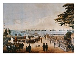 Commodore Perry Lands in Japan to Meet the Imperial Commissioners at Yokohama, 8th March 1854 Giclee Print by Wilhelm Heine
