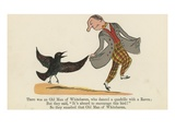 There Was an Old Man of Whitehaven, Who Danced a Quadrille with a Raven Giclee Print by Edward Lear