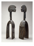 Male and Female Waja Masks, from Upper Benue River, Nigeria, 1850-1950 Giclee Print by African